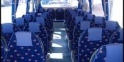 interior estandard 35 plazas Grandoure alquiler de autocares y microbuses con conductor en madrid y valladolid