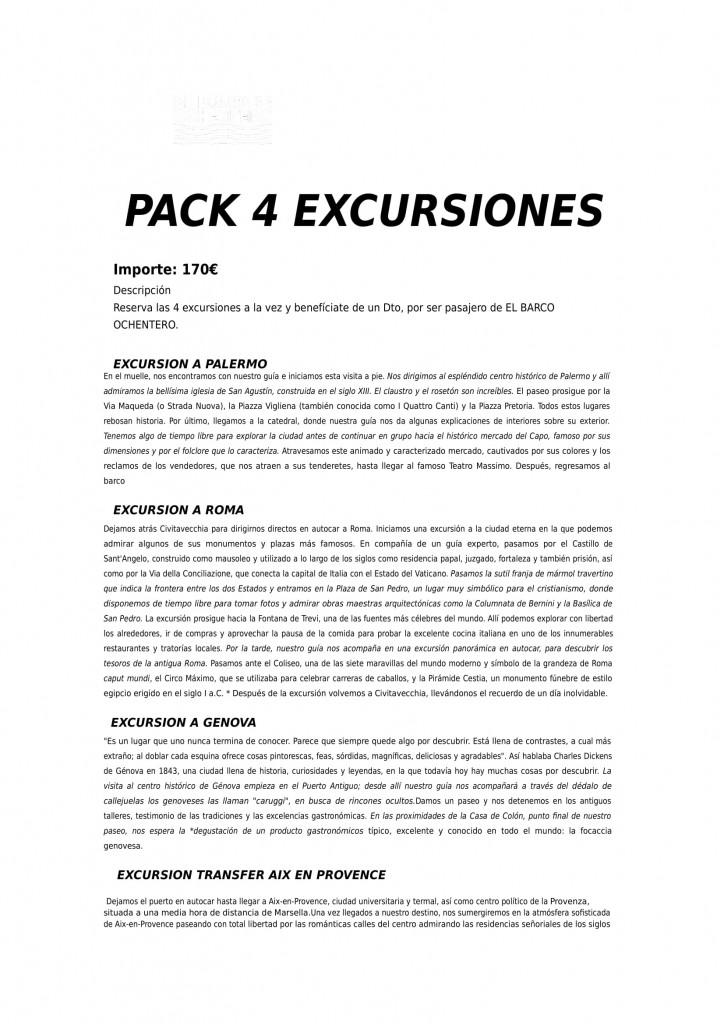 EXCURSION PACK 4 EXCRUSIONES-1